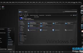 Carbon theme for windows7 | Тема оформления Carbon