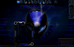 Тема для Windows 7: alien center menu by tono3022