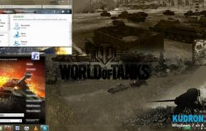 Тема на  Windows 7: World of tanks