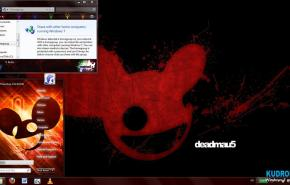Тема на  Windows 7: Deadmau5