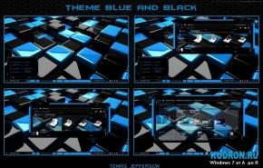 Тема на Windows 7: Blue and Black