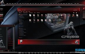 Тема на Windows 7: Concept Crysis