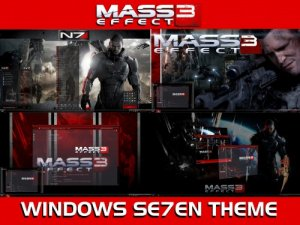 Темы для Windows 7: MASS EFFECT 3 for CTX by Tiger