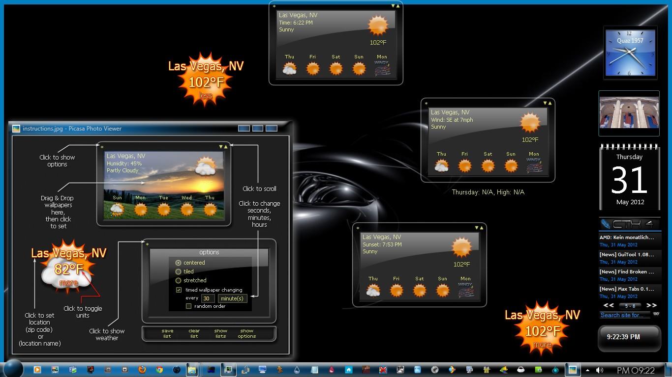 Weather - Windows 7 Desktop Gadget