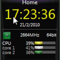 Мультиметровый гаджет для Windows 7
