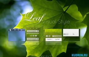 Тема на Windows 7: Leaf Visual Style