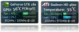 Гаджет для видеокарты   GPU Observer – Sidebar Gadget