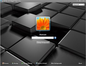 Windows 7 Logon Editor - Редактируем экран приветствия
