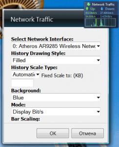 Гаджет для мониторинга траффика и загруженности сети