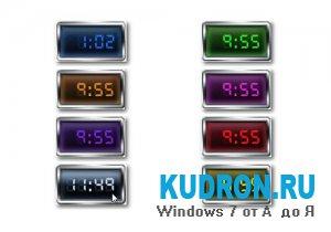 Красивые электронные часы - гаджет windows 7