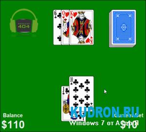 Гаджет игра БлэкДжек для Windows 7 | Blackjack for Windows7