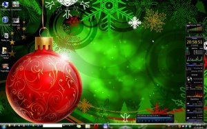 Новогодняя тема оформления для вашей Windows 7 Dark7 XMas Edition