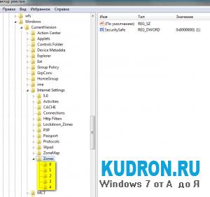 Ошибка отображения элементов ActiveX в Windows 7.