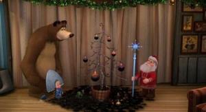Маша и Медведь: Раз, два, три! Ёлочка, гори!
