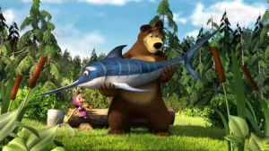 Маша и Медведь - Ловись , рыбка !