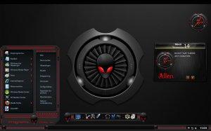 Темы для Windows 7: Alien Red by Creator