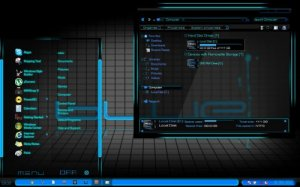 Темы для Windows 7: BLUE theme by safuddin