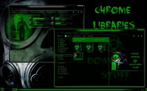 Темы для Windows 7: Green Biohazard