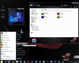 Тема на Windows 7: windows 7 evo 4.0 final Republic of gamers edition