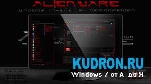 Тема на Windows 7: Alienware Special Edition RED