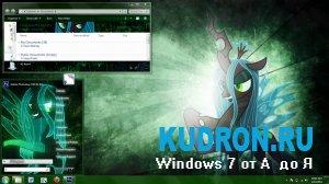 Тема на Windows 7: Queen Chrysalis