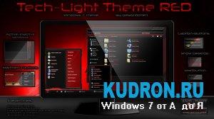 Тема на Windows 7: Tech-Light-Red