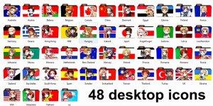 Hetalia 48 Desktop/Folder Icons DL